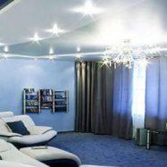 Интерьер комнаты с потолком из гипсокартона