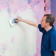 Отделка стены перед покраской