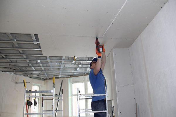 Работа под потолком