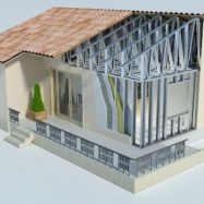 Пример металлокаркасного дома