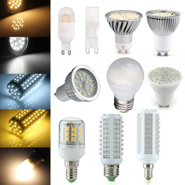 Типы LED ламп