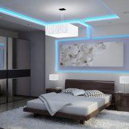 Многоуровневый потолок со скрытой подсветкой