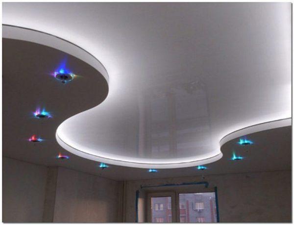 Как сделать двухуровневые потолки из гипсокартона - монтаж потолка своими руками, фото