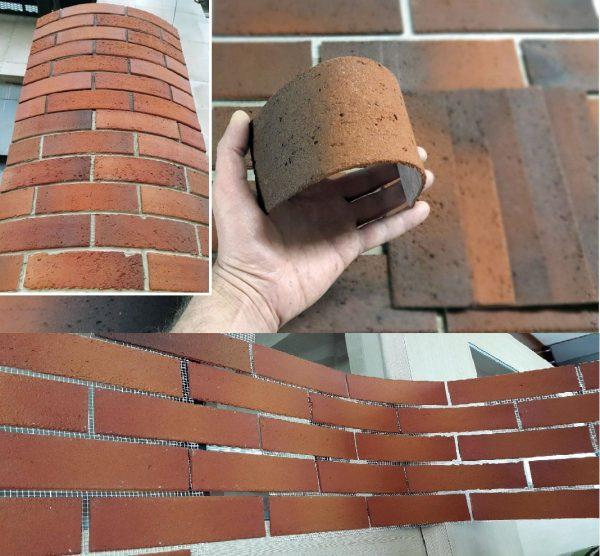 Гибкая плитка для внутренней отделки стены в прихожей