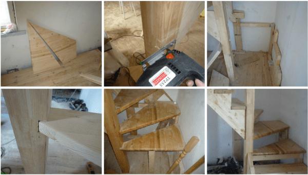 Процесс изготовление лестницы