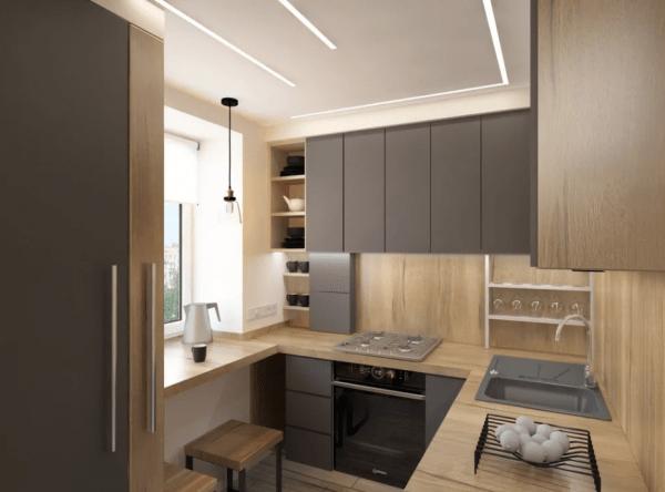 Кухня с другими комнатами