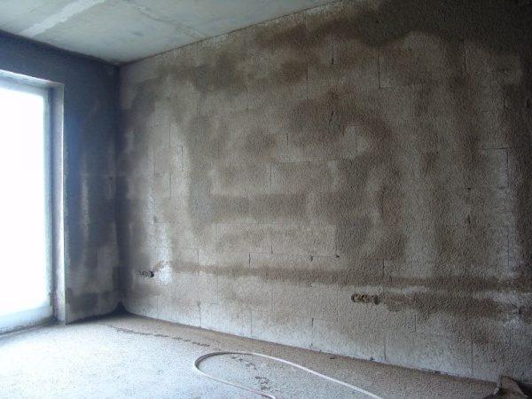 Загрунтованная стена