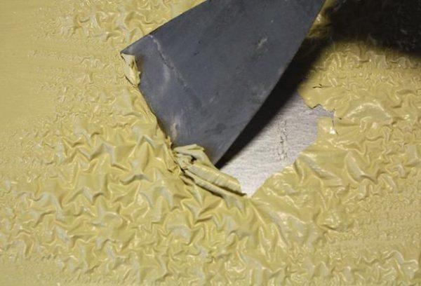 Снятие покрытия