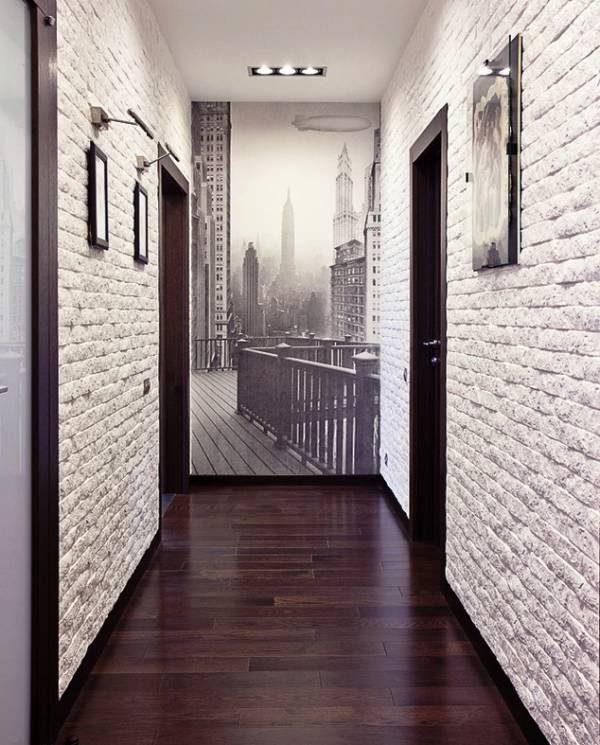 Белая палитра в коридоре