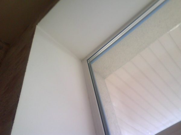 Шпаклевание окна