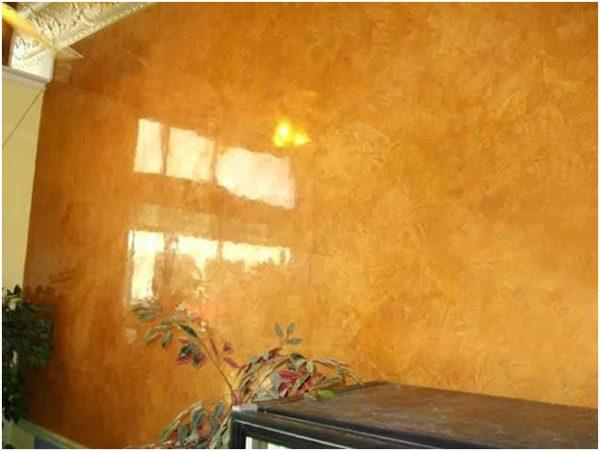 Стена после покрытия